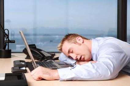 Coworker asleep